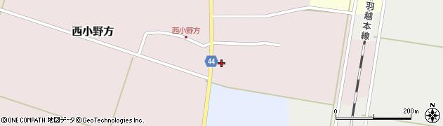山形県東田川郡庄内町西小野方村東20周辺の地図