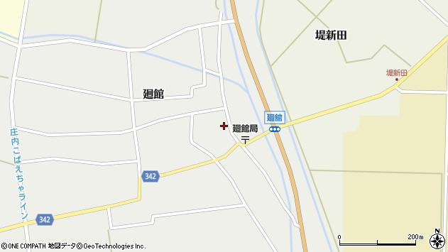 山形県東田川郡庄内町廻館館舎52周辺の地図