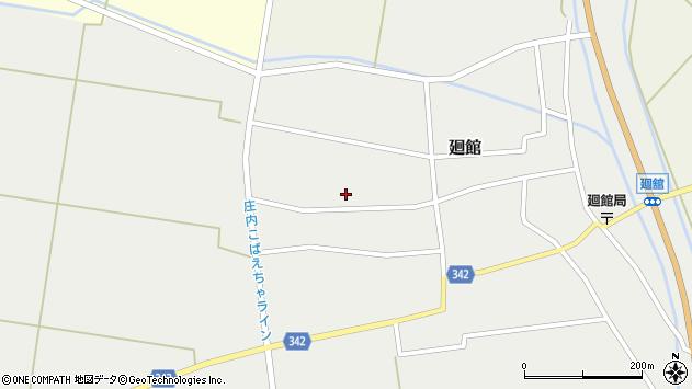 山形県東田川郡庄内町廻館館舎186周辺の地図