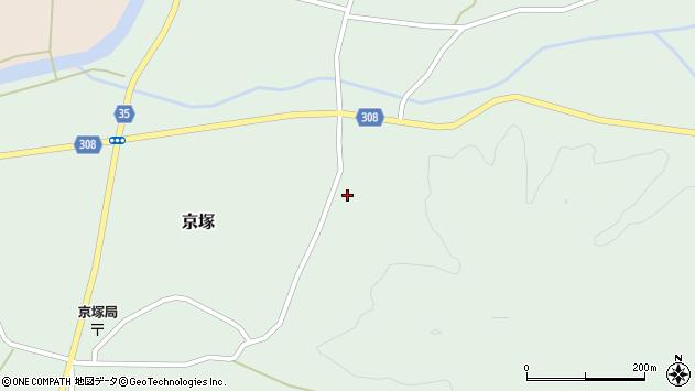 山形県最上郡鮭川村京塚府の宮周辺の地図