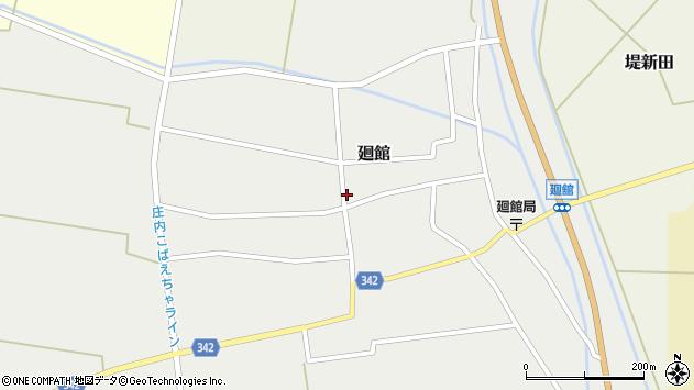 山形県東田川郡庄内町廻館館舎203周辺の地図
