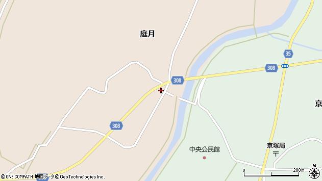 山形県最上郡鮭川村庭月757周辺の地図