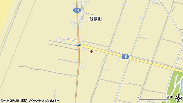 山形県酒田市浜中分散山454周辺の地図