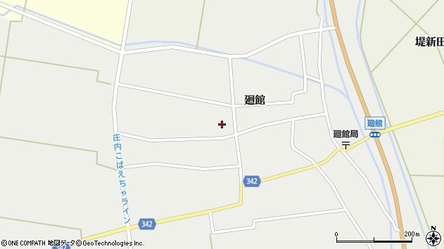 山形県東田川郡庄内町廻館館舎202周辺の地図