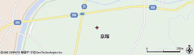 山形県最上郡鮭川村京塚中京塚周辺の地図