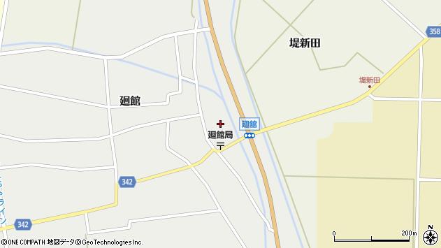 山形県東田川郡庄内町廻館館舎33周辺の地図