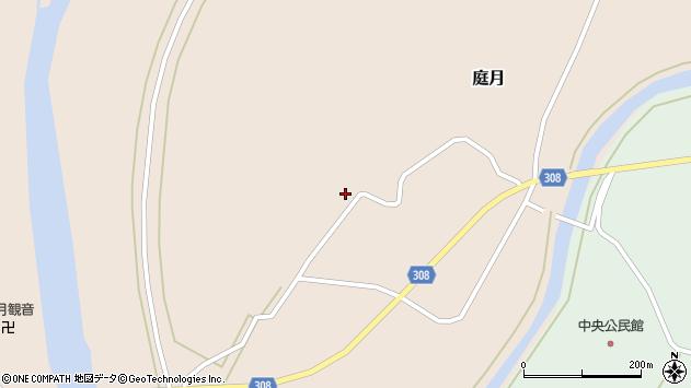 山形県最上郡鮭川村庭月1056周辺の地図