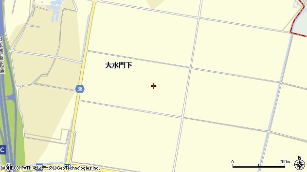 山形県酒田市広岡新田大水門下周辺の地図