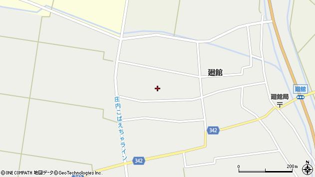 山形県東田川郡庄内町廻館館舎187周辺の地図