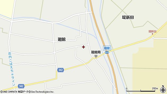 山形県東田川郡庄内町廻館館舎50周辺の地図