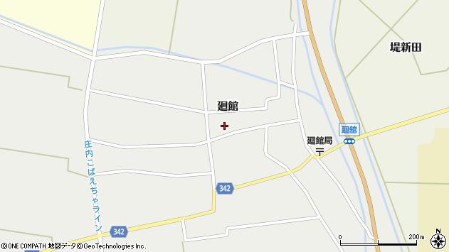 山形県東田川郡庄内町廻館館舎206周辺の地図