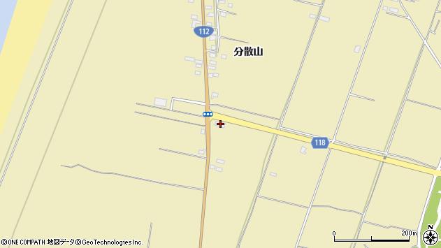 山形県酒田市浜中分散山456周辺の地図