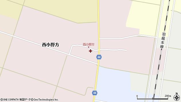 山形県東田川郡庄内町西小野方西農80周辺の地図