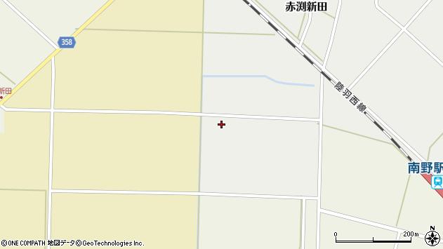山形県東田川郡庄内町小出新田小谷地周辺の地図