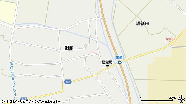 山形県東田川郡庄内町廻館館舎38周辺の地図