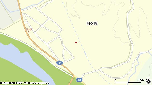 山形県酒田市臼ケ沢上沢通周辺の地図