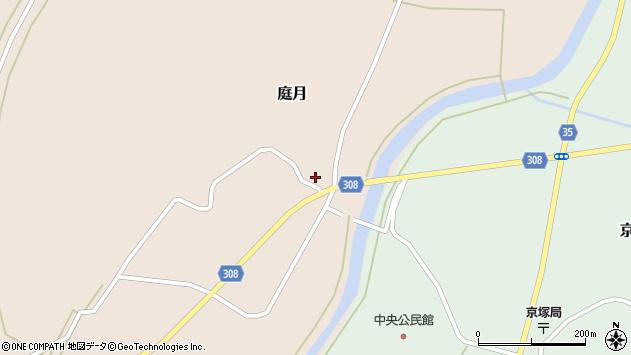 山形県最上郡鮭川村庭月761周辺の地図