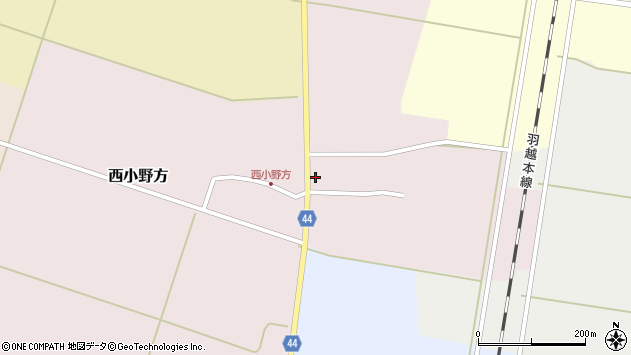 山形県東田川郡庄内町西小野方西農41周辺の地図