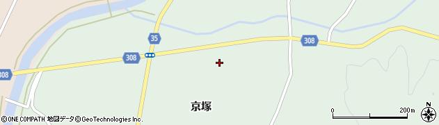 山形県最上郡鮭川村京塚1227周辺の地図