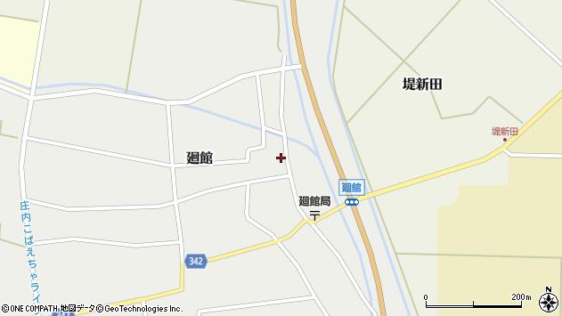 山形県東田川郡庄内町廻館館舎35周辺の地図