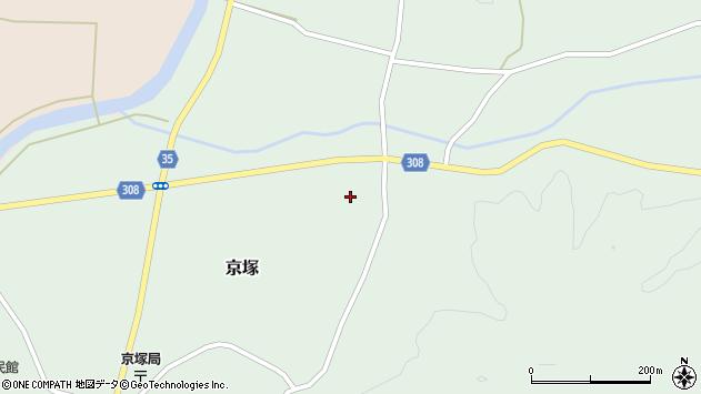 山形県最上郡鮭川村京塚953周辺の地図