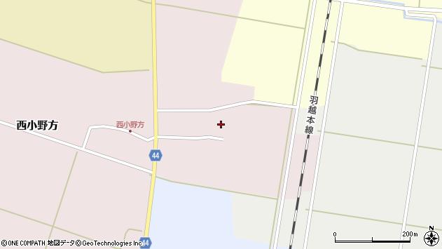 山形県東田川郡庄内町西小野方西農21周辺の地図