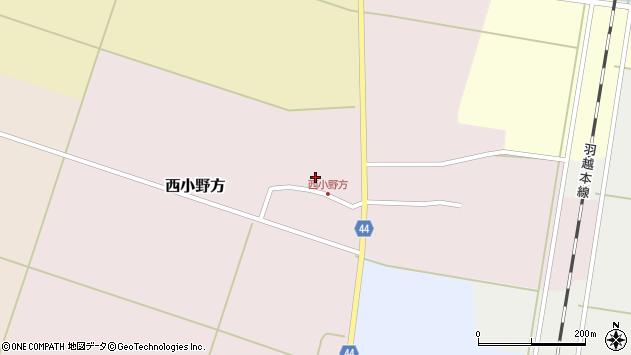 山形県東田川郡庄内町西小野方西農77周辺の地図