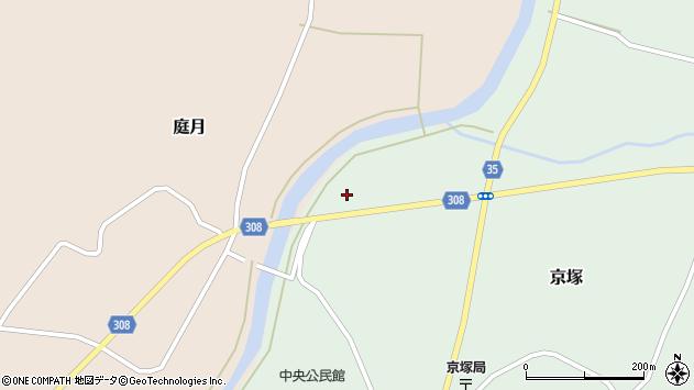 山形県最上郡鮭川村庭月7644周辺の地図