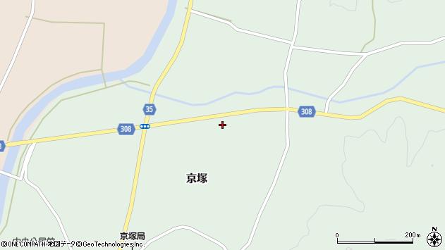 山形県最上郡鮭川村京塚951周辺の地図