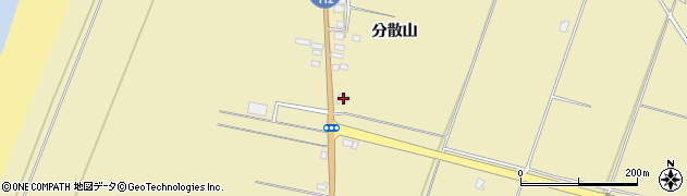 山形県酒田市浜中分散山470周辺の地図