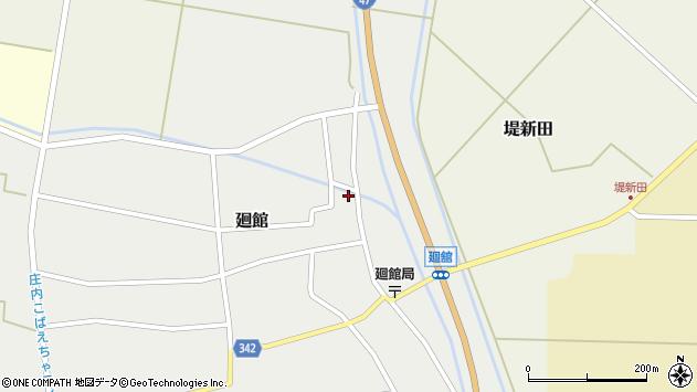 山形県東田川郡庄内町廻館館舎40周辺の地図