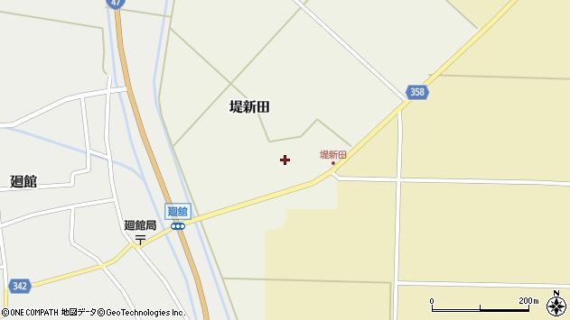 山形県東田川郡庄内町堤新田新地21周辺の地図