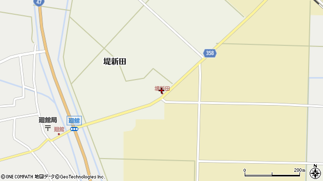 山形県東田川郡庄内町堤新田新畑1周辺の地図