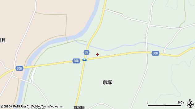 山形県最上郡鮭川村京塚1251周辺の地図