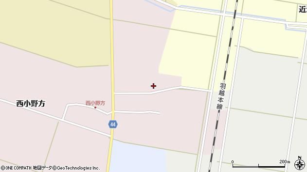 山形県東田川郡庄内町西小野方周辺の地図