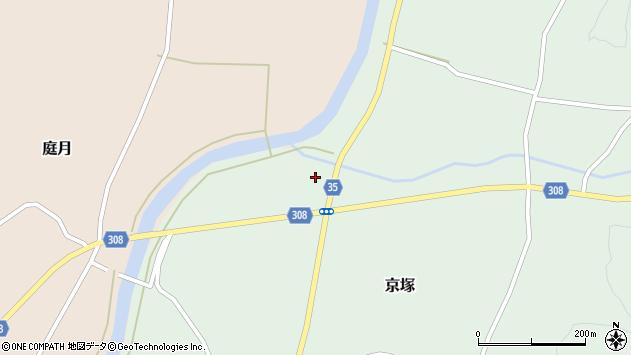 山形県最上郡鮭川村京塚1261周辺の地図