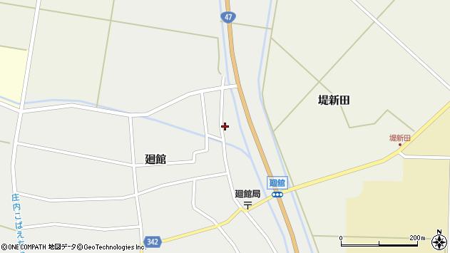 山形県東田川郡庄内町廻館岡崎5周辺の地図