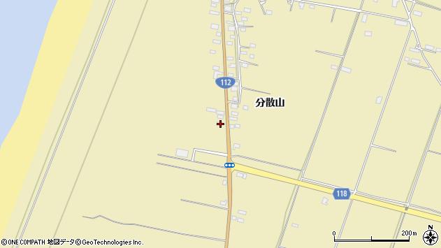山形県酒田市浜中分散山184周辺の地図