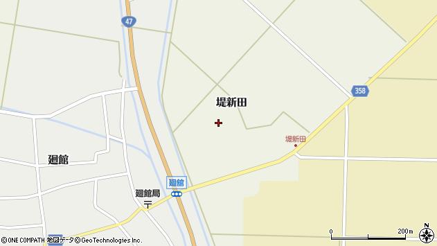 山形県東田川郡庄内町堤新田新地周辺の地図