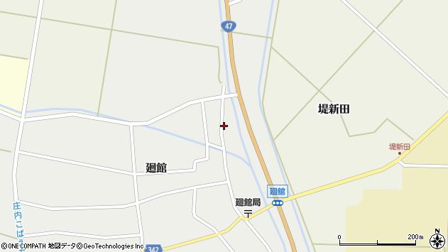 山形県東田川郡庄内町廻館岡崎6周辺の地図
