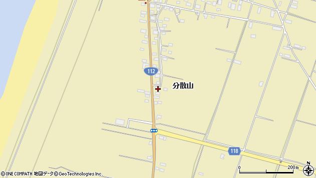 山形県酒田市浜中分散山周辺の地図