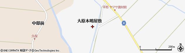 宮城県栗原市金成大原木鴫屋敷周辺の地図