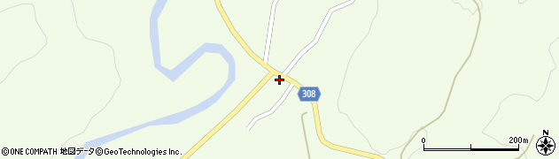 山形県最上郡鮭川村曲川248周辺の地図