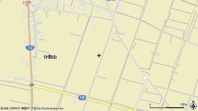山形県酒田市浜中分散山557周辺の地図