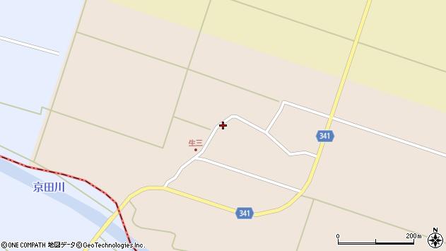 山形県東田川郡庄内町生三奥沼田周辺の地図