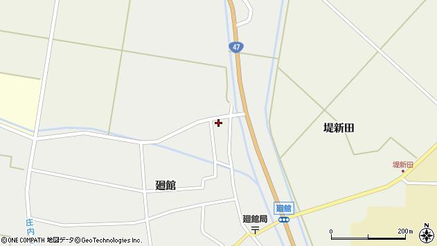 山形県東田川郡庄内町廻館岡崎9周辺の地図