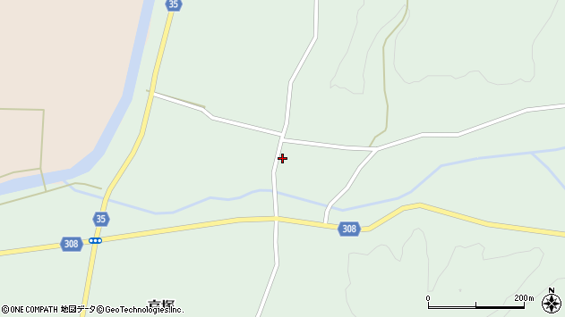 山形県最上郡鮭川村京塚755周辺の地図