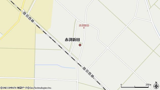 山形県東田川郡庄内町赤渕新田藤原台28周辺の地図