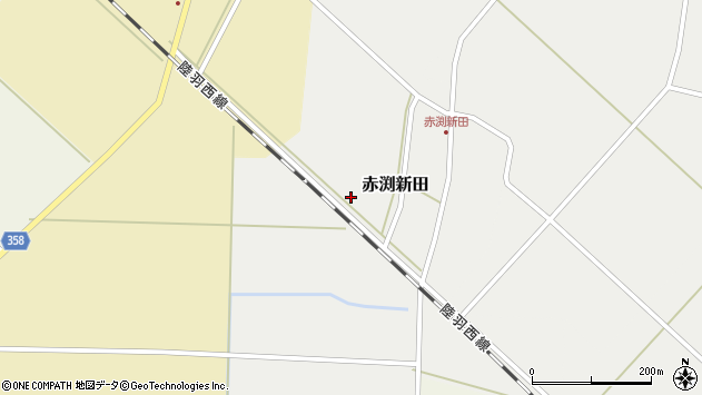 山形県東田川郡庄内町赤渕新田仲割周辺の地図