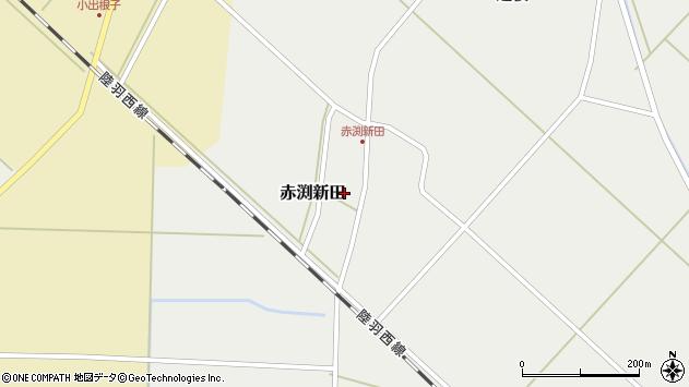 山形県東田川郡庄内町赤渕新田藤原台40周辺の地図